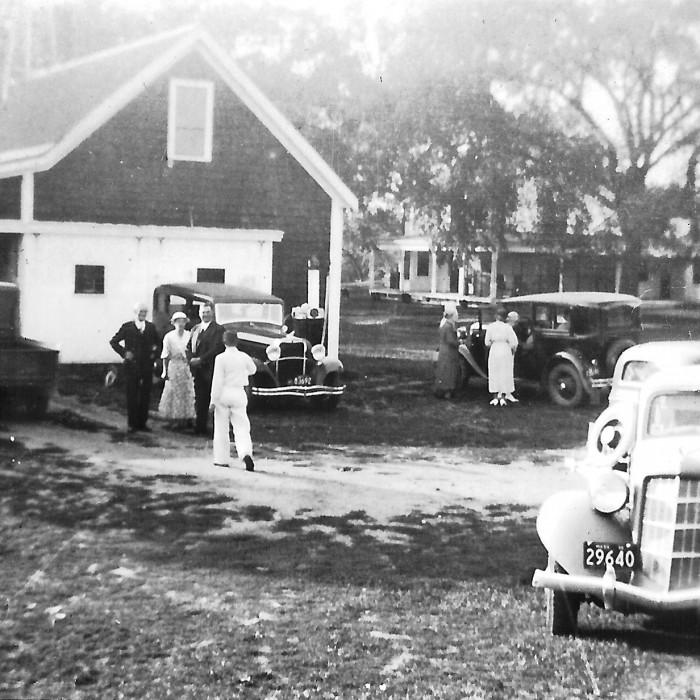 Celebrating family anniversary, 1936