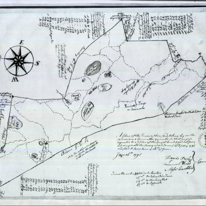 Map of Boxford, MA, 1795