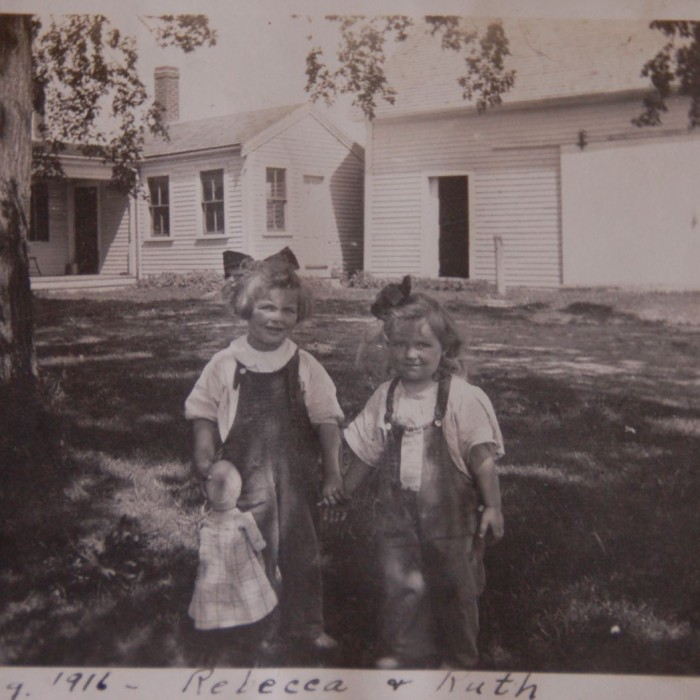 Hiram Towne's nieces, Rebecca and Ruth Parkhurst August 1916