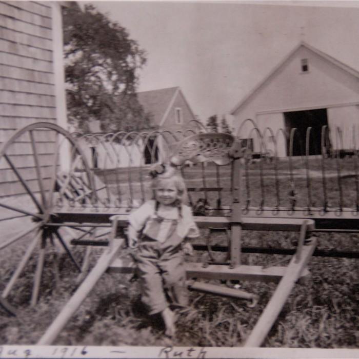 Hiram Towne's niece Ruth Parkhurst, August 1916