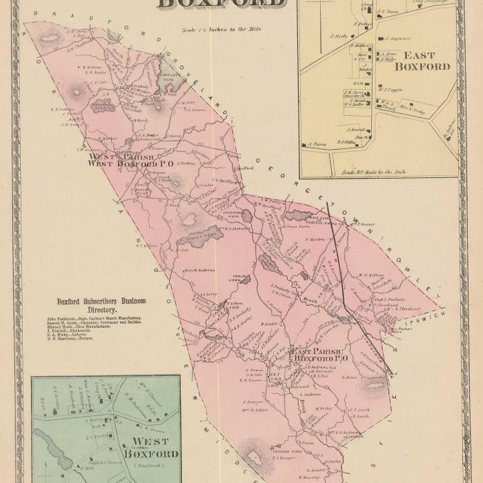 Town of Boxford circa 1795