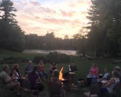 drum circle sunset